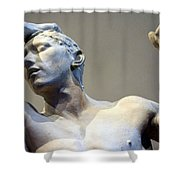 Rodin's The Vanguished Up Close Shower Curtain