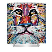 Rodney Abstract Lion Shower Curtain
