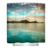 Rodney Bay Glow Shower Curtain