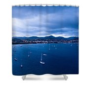 Rodney Bay Morning Blues Shower Curtain
