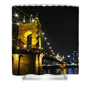 Roebling Bridge II Shower Curtain