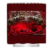 Roes Among Thorns Shower Curtain