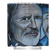 Roger Alan Wade Kris Kristoferson Billy Joe Shaver Shower Curtain