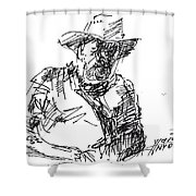 Roger In A Cowboy Hat Shower Curtain