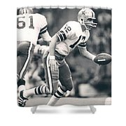 Roger Staubach Passing The Ball Shower Curtain
