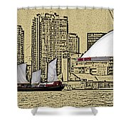 Roger's Centre And Tall Ship Shower Curtain