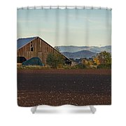 Rogue Valley Barn In Late Afternoon Shower Curtain