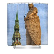 Roland Of Riga Painting Shower Curtain