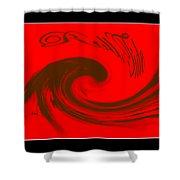 Roll Tide Roll - Alabama Football Shower Curtain by Travis Truelove