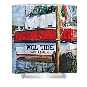 Roll Tide Stern Shower Curtain