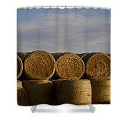 Rolled Hay   #1056 Shower Curtain