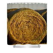 Rolled Hay   #1074 Shower Curtain
