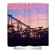 Roller Coaster At The  Nj Shore Shower Curtain