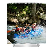 Roller Coaster Of Rafting Shower Curtain