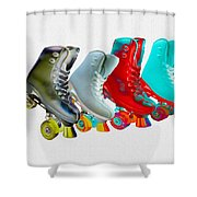 Roller Skates Shower Curtain