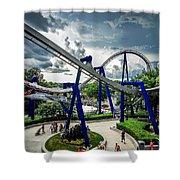 Rollercoaster Amusement Park Ride Shower Curtain