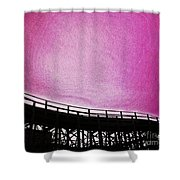 Rollercoaster In Pink Shower Curtain