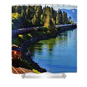 Rollin' Round The Bend Shower Curtain