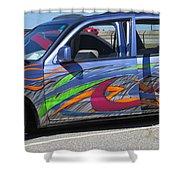 Rolling Art Lowrider Shower Curtain