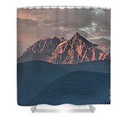 Rolling Hills And Purple Tantalus Peaks Shower Curtain