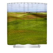 Rolling Idaho Farmland Shower Curtain