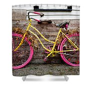 Rolling On Pink Shower Curtain