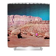 Rolling Rockin' Roger Shower Curtain