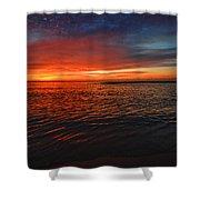 Rolling Sunrise Colors Shower Curtain