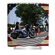 Rolling Thunder Salute Shower Curtain