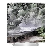 Rolling Waters Shower Curtain
