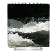 Rolling White Water Shower Curtain
