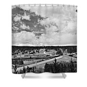 Rollinsville Colorado Small Town 181 In Black And White Shower Curtain