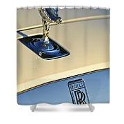 Rolls-royce Hood Ornament 3 Shower Curtain by Jill Reger