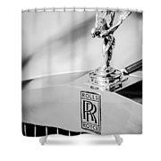 Rolls-royce Hood Ornament -782bw Shower Curtain