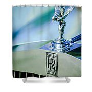 Rolls-royce Hood Ornament -782c Shower Curtain