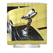 Rolls Royce Hood Ornament Shower Curtain