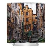 Roman Backyard Shower Curtain