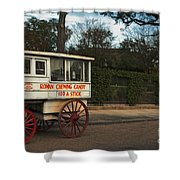 Roman Candy Wagon New Orleans Shower Curtain