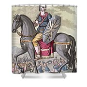 Roman Cavalryman Of The State Army Shower Curtain