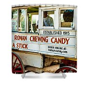 Roman Chewing Candy Nola Shower Curtain