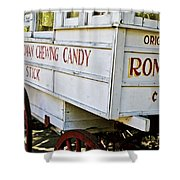 Roman Chewing Candy Shower Curtain