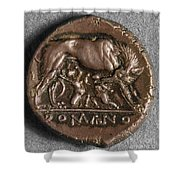 Roman Coin: Romulus Shower Curtain