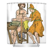 Roman Devices For Setting Fractures Shower Curtain