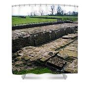 Roman Fort Ruins, England Shower Curtain