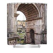 Roman Forum Arch Shower Curtain
