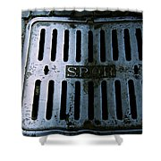 Roman Manhole Cover Shower Curtain