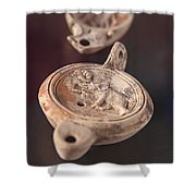 Roman Oil Lamp Shower Curtain by Sophie McAulay