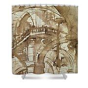 Roman Prison Shower Curtain