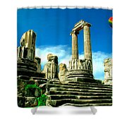 Roman Ruins From Above Shower Curtain