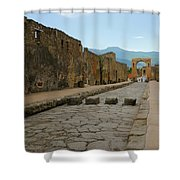 Roman Street In Pompeii Shower Curtain